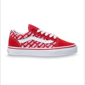 Unisex Vans Junior Old Skool Red